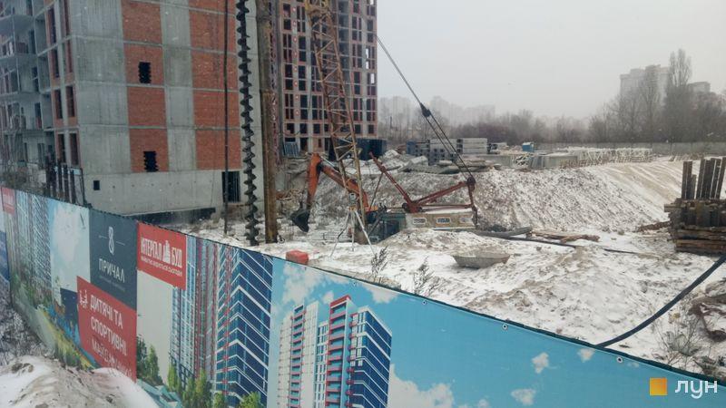 Ход строительства ЖК Причал 8, 1 дом (секция 4), февраль 2020