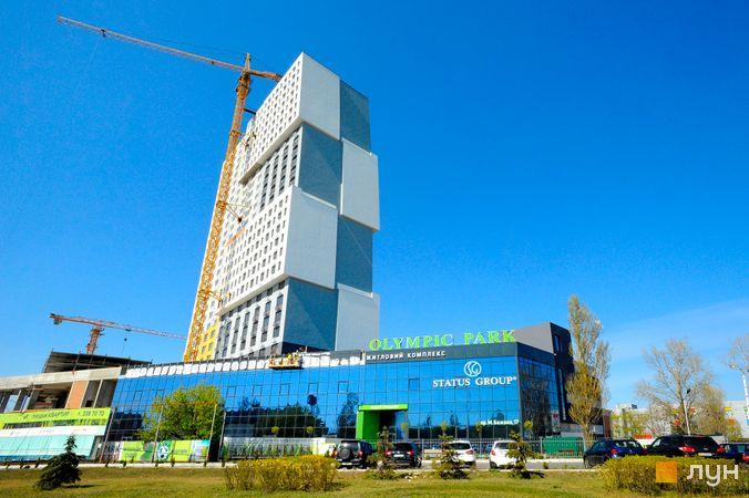 Ход строительства ЖК Olympic Park, 1 дом (секция 1), апрель 2020