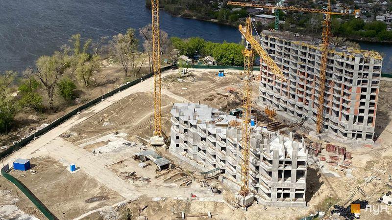 Ход строительства ЖК Заречный, 7-8 дома, апрель 2020