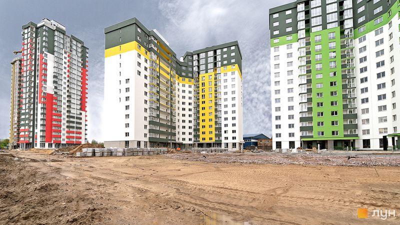 Хід будівництва ЖК Сирецькі сади, 2-4 будинки, квітень 2020