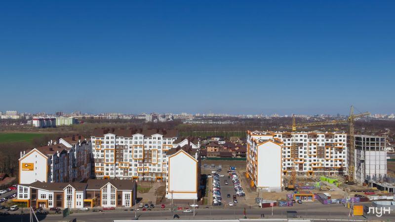 Ход строительства ЖК Orange Park, ул. Одесская, 23а-25в, май 2020