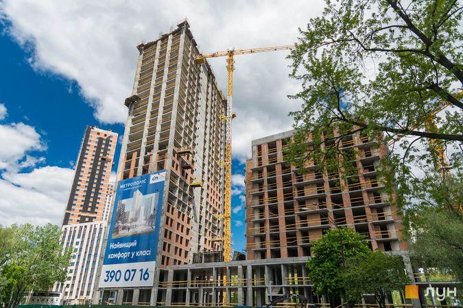 Хід будівництва ЖК Метрополіс, 2, 3 будинки, травень 2020