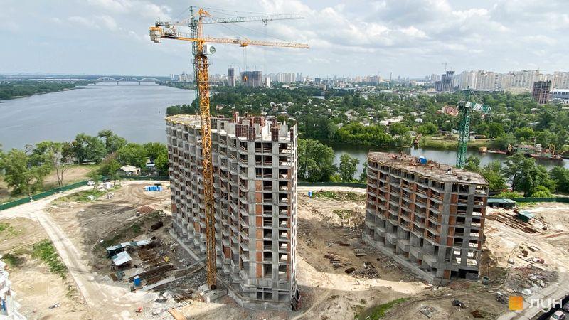 Ход строительства ЖК Заречный, 8-9 дома, май 2020