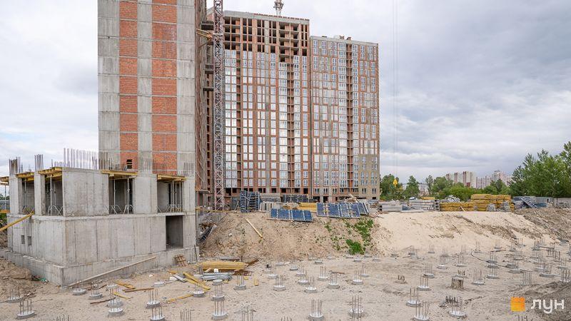Ход строительства ЖК Причал 8, 1 дом (секции 1-7), май 2020