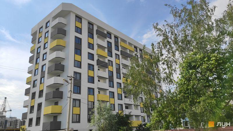 Ход строительства ЖК Банковский 2, 1 дом, июнь 2020
