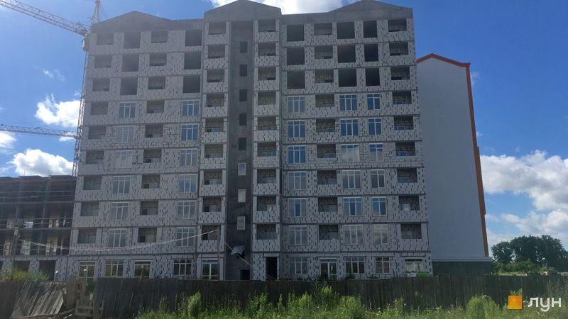 Ход строительства ЖК Orange Park, ул. Одесская, 25в (секция 2F), июль 2020