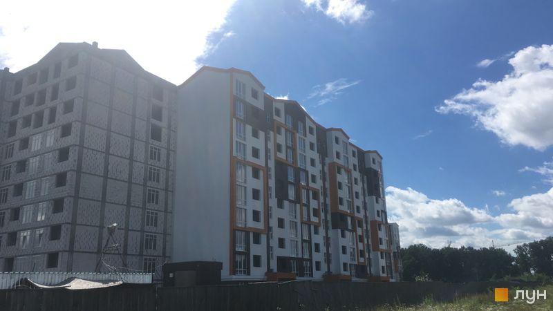 Ход строительства ЖК Orange Park, ул. Одесская, 25б (секции 2C, 2E, 2D), июль 2020
