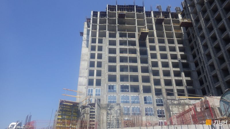 Ход строительства ЖК DOCK32, 2 дом, июль 2020
