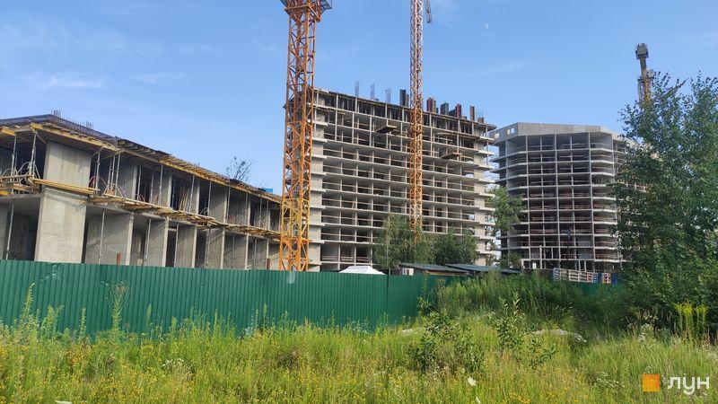 Ход строительства ЖК Madison Gardens, 1, 2, 3 дома, июль 2020