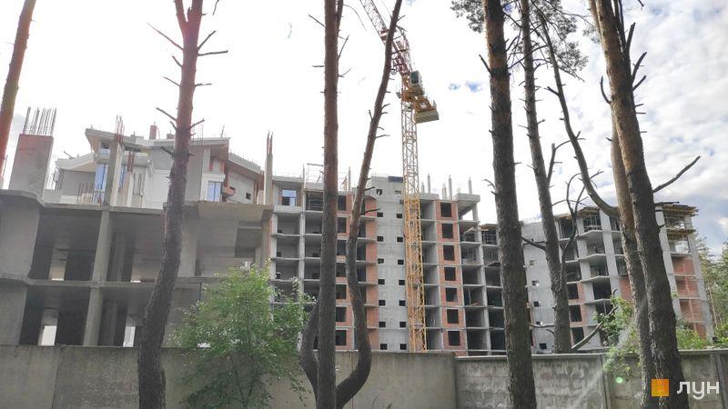 Хід будівництва ЖК На Прорізній 2, 1 будинок (секції 1-2), липень 2020