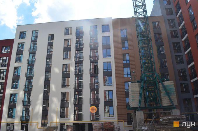 Ход строительства ЖК Семицвет, 10 дом (секции 3-4), август 2020