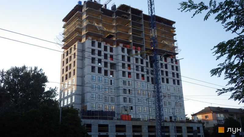 Ход строительства ЖК UNO City House, Дом, август 2020