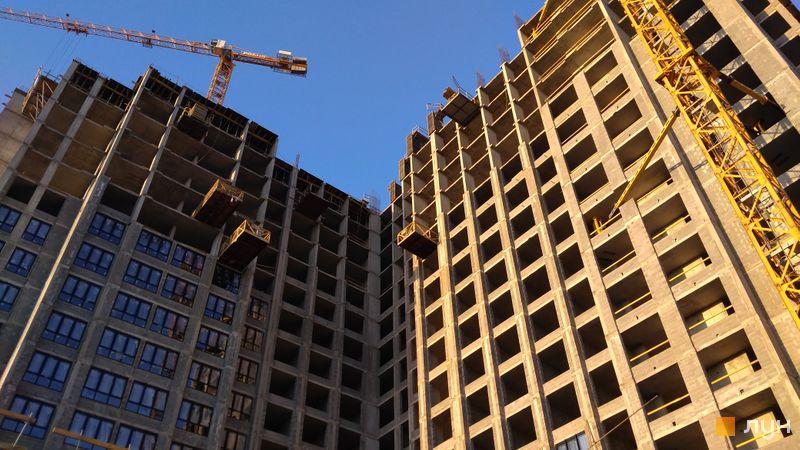 Ход строительства ЖК DOCK32, 1, 2 дома, август 2020