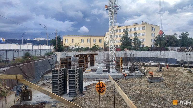 Хід будівництва ЖК OASIS, 1 секція, серпень 2020