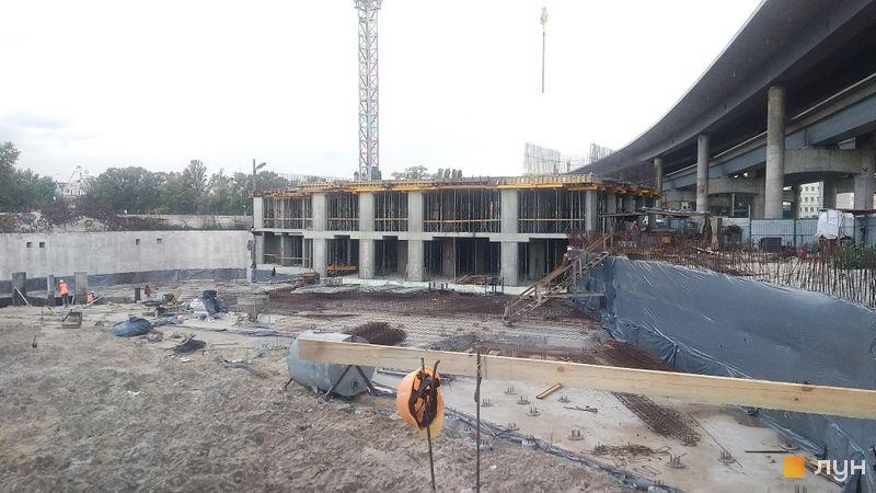 Ход строительства ЖК OASIS, 2 секция, август 2020