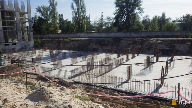 Ход строительства ЖК Star City, 1 дом (секция 2), август 2020