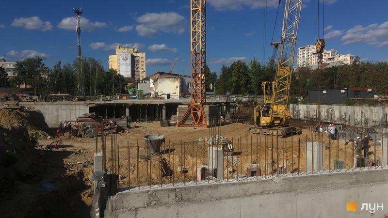 Хід будівництва ЖК Wellspring, 1 будинок (секції 1-2), вересень 2020