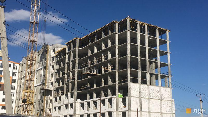 Ход строительства ЖК Orange Park, ул. Одесская, 25в (секция 2G), сентябрь 2020