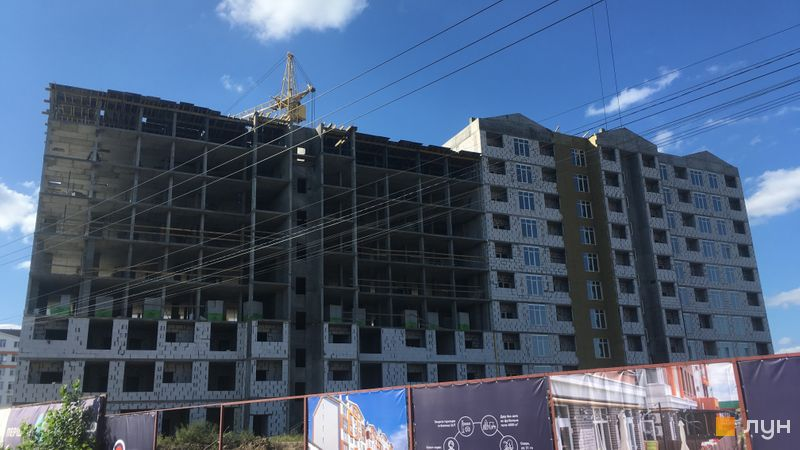 Ход строительства ЖК Orange Park, ул. Одесская, 25в (секция 2F, 2G), сентябрь 2020