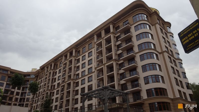 Хід будівництва ЖК 52 Перлина (Pechersk Plaza), 9-10 секції, вересень 2020