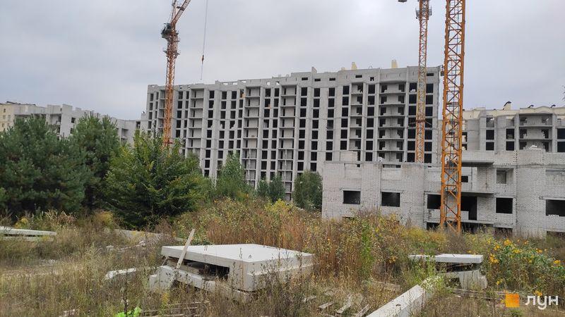 Ход строительства ЖК Чайка, ул. Лобановского, 30 (секции А, Б, В), сентябрь 2020