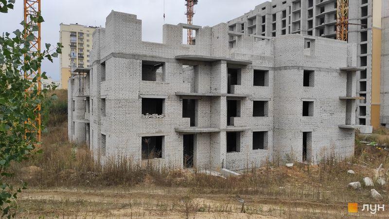 Ход строительства ЖК Чайка, ул. Лобановского, 36, сентябрь 2020