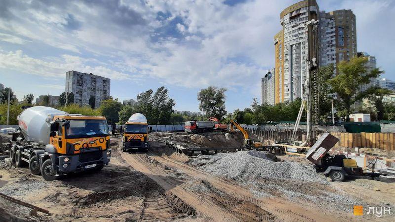 Хід будівництва ЖК Rusaniv Residence, Будинок, вересень 2020
