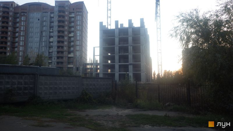 Ход строительства ЖК Эврика, 2 дом, октябрь 2020