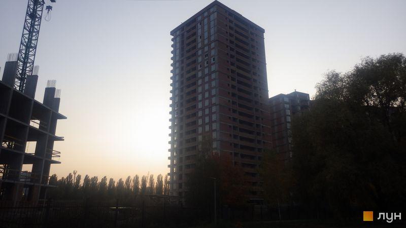 Ход строительства ЖК Эврика, 1 дом, октябрь 2020