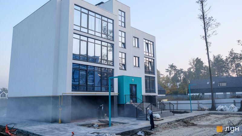 Ход строительства ЖК Ибис, 1 дом, октябрь 2020