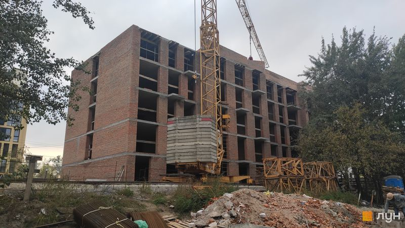 Ход строительства ЖК Белый Шоколад.Center, 12 очередь (ул. Величко, 19), октябрь 2020