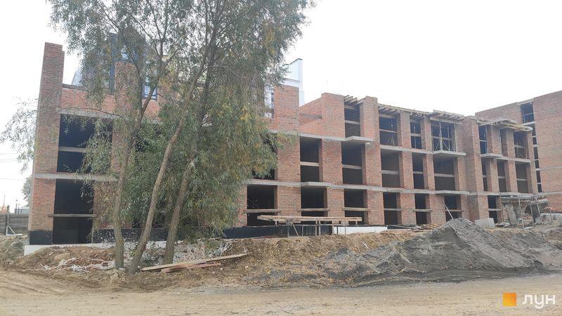 Ход строительства ЖК Белый Шоколад.Center, 12 очередь (ул. Величко, 21), октябрь 2020
