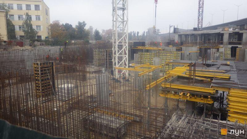 Хід будівництва ЖК OASIS, 1-2 секції, жовтень 2020