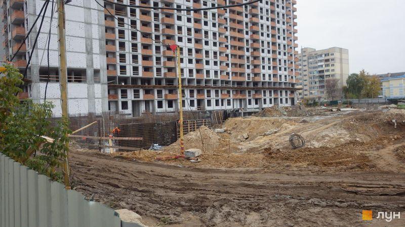 Хід будівництва ЖК OK'LAND, 2 дом (секція 1), листопад 2020