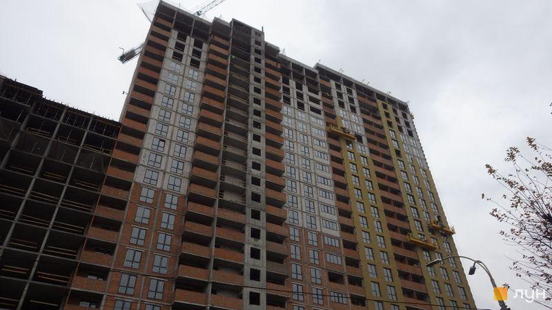 Хід будівництва ЖК OK'LAND, 3 дом (секції 1-3), листопад 2020