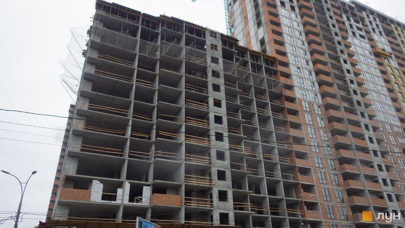 Хід будівництва ЖК OK'LAND, 3 дом (секція 4), листопад 2020