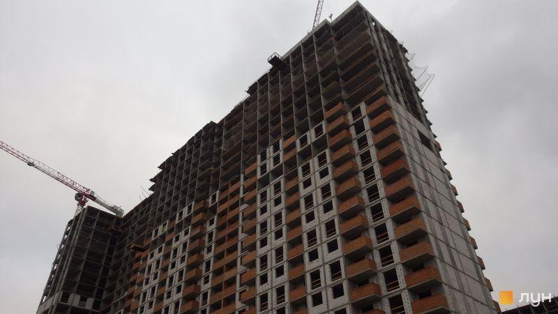 Хід будівництва ЖК OK'LAND, 2 дом (секції 2-4), листопад 2020
