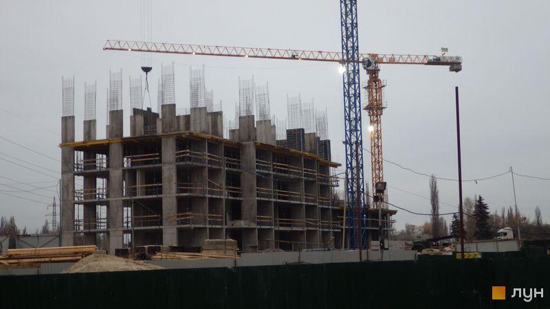 Хід будівництва ЖК Сирецькі сади, 6 будинок, листопад 2020