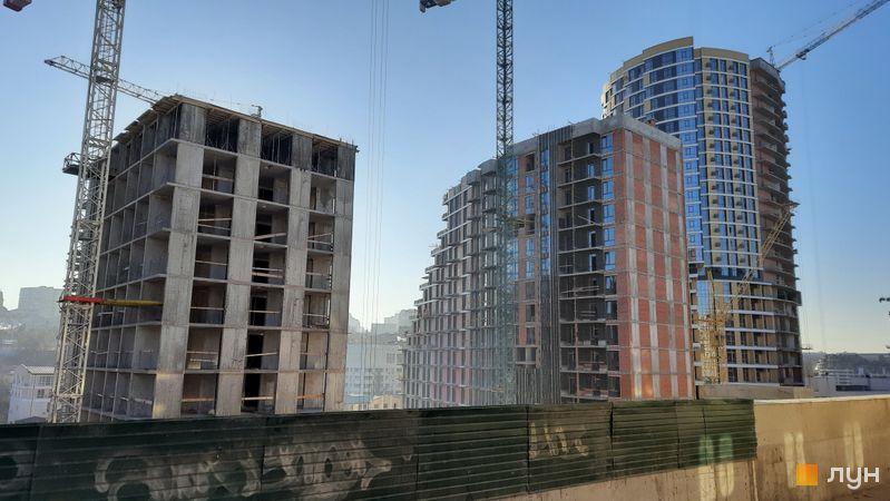 Ход строительства ЖК Mirax, 1-3 дома, декабрь 2020