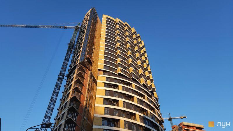 Ход строительства ЖК Mirax, 1 дом (секция А), декабрь 2020