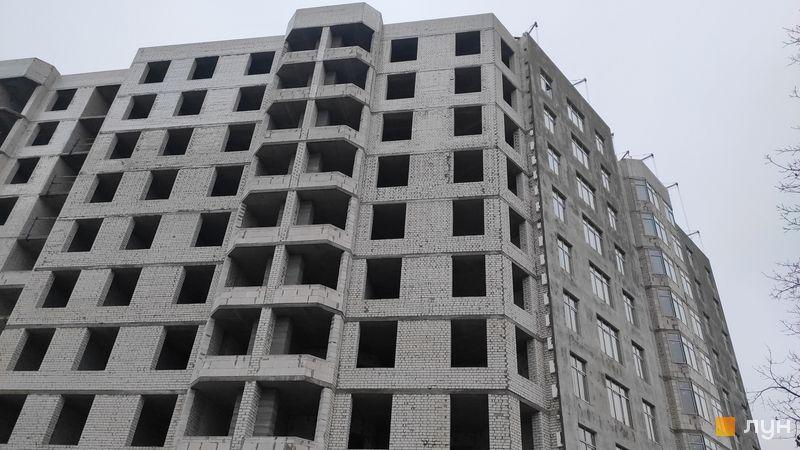 Ход строительства ЖК Пражский квартал 2, 3 дом, декабрь 2020