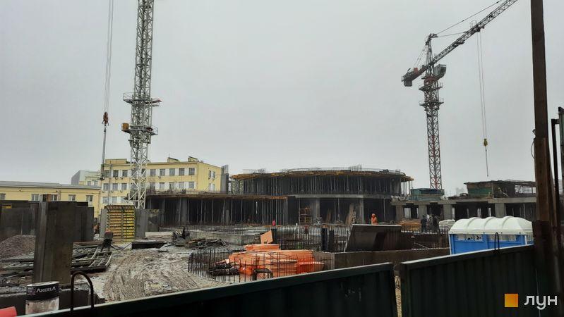 Ход строительства ЖК OASIS, 1-2 секции, декабрь 2020