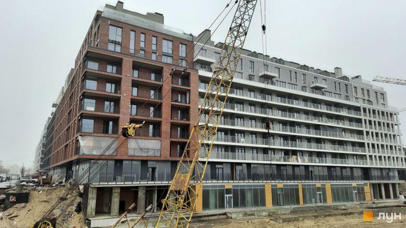 Хід будівництва Житловий район Rybalsky, 9 будинок, грудень 2020