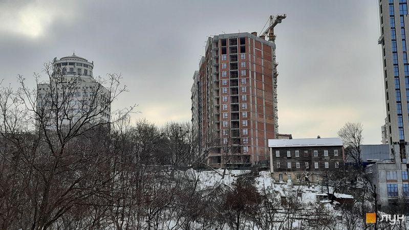 Ход строительства ЖК Львовская площадь, 1, 2 секции, январь 2021
