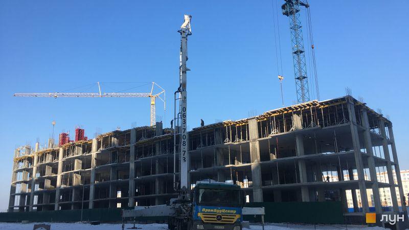 Ход строительства ЖК Софиевские Липки, 2 дом, январь 2021