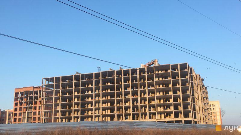 Ход строительства ЖК Петровский квартал, ПК-5. 2 очередь (бул. Леси Украинки, 24-26д), январь 2021