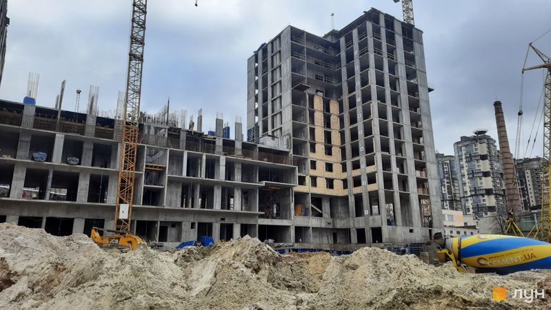 Ход строительства ЖК Stanford, 105, 106 секции, январь 2021