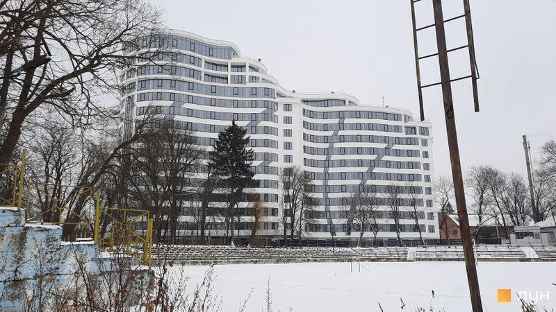 Ход строительства ЖК Parus, 1 дом (секции 1-4), февраль 2021