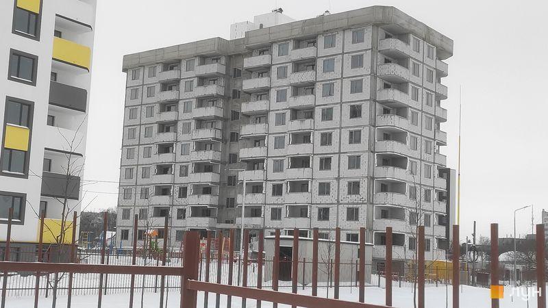 Ход строительства ЖК Банковский 2, 2 дом, февраль 2021