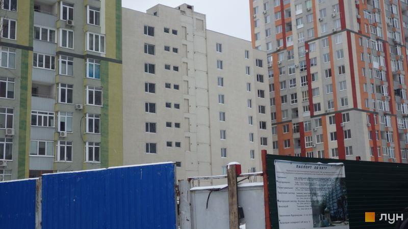 Ход строительства ЖК Грюнвальд, 7 дом, февраль 2021